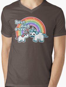 Best Unicorn Dad Mens V-Neck T-Shirt