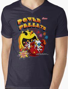 Power Pellets Mens V-Neck T-Shirt