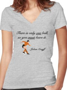 Johan Cruyff Quote Women's Fitted V-Neck T-Shirt