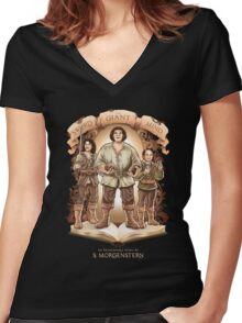 An Inconceivable Story Women's Fitted V-Neck T-Shirt