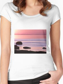 Lines in the Sea Women's Fitted Scoop T-Shirt