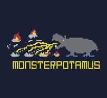 Monsterpotamus Pixel One Piece - Short Sleeve