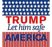 Trump Let him save America Photographic Print