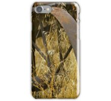Rusty Old Wheel and Yellow Grasses iPhone Case/Skin