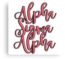 Alpha Sigma Alpha Canvas Print