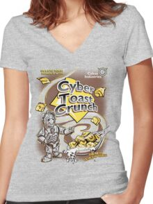 Cyber Toast Crunch Women's Fitted V-Neck T-Shirt