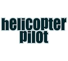 Helicopter pilot Photographic Print