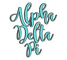 Alpha Delta Pi Photographic Print