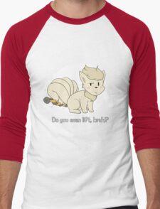 do you even lift, bruh? (ninetales) Men's Baseball ¾ T-Shirt