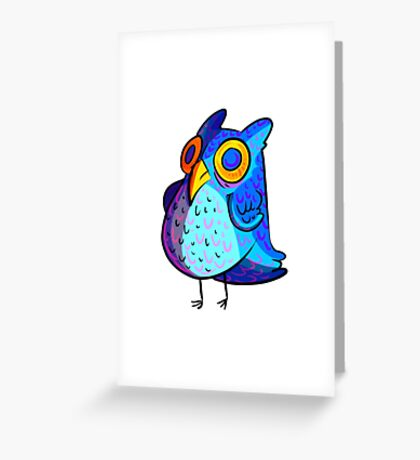 Spacey Owl Greeting Card