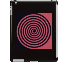 Red spiral 1 iPad Case/Skin