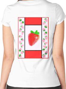 Strawberry Jacket (Kasabian/Paul McCartney) Women's Fitted Scoop T-Shirt