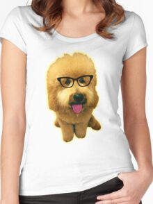 Precious Goldendoodle puppy! Women's Fitted Scoop T-Shirt