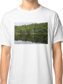 Still Forest Lake Reflections - Charlevoix, Quebec, Canada Classic T-Shirt