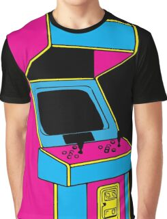 Stand Up, Old School Arcade Game (CMYK) Graphic T-Shirt