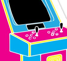 Stand Up, Old School Arcade Game (CMYK) Sticker