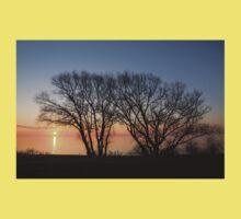November Sunrise on Lake Ontario in Toronto, Canada  One Piece - Short Sleeve