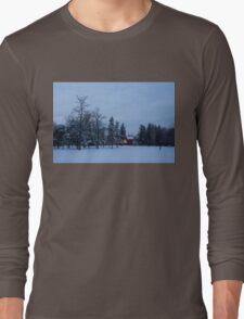 Snow, Stillness and Warm House Lights Long Sleeve T-Shirt