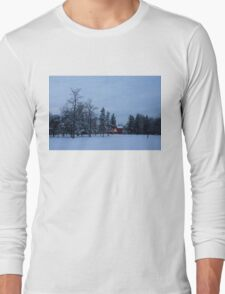 Snow, Stillness and Warm House Lights Long Sleeve T-Shirt