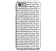 """""""And then I fired again. And then I missed."""" iPhone Case/Skin"""