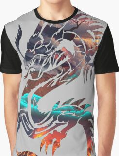 Dragon Picture Fill Graphic T-Shirt