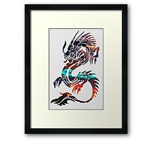 Dragon Picture Fill Framed Print