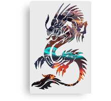 Dragon Picture Fill Canvas Print