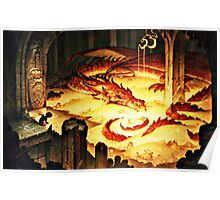 The Hoard of Smaug in Erebor Poster