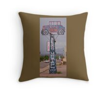Old Benson Motel Sign Throw Pillow