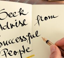 Seek Advise From Successful People Sticker