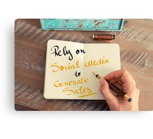 Rely On Social Media To Generate Sales Canvas Print