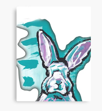 Bunny Rabbit Bright colorful pop art Canvas Print