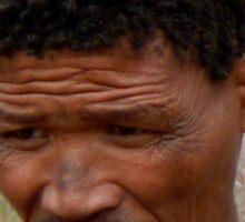 San (Bushman) Elder Sticker