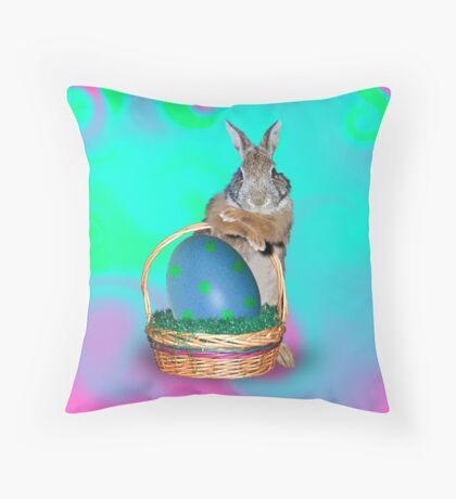Easter Bunny Rabbit Throw Pillow