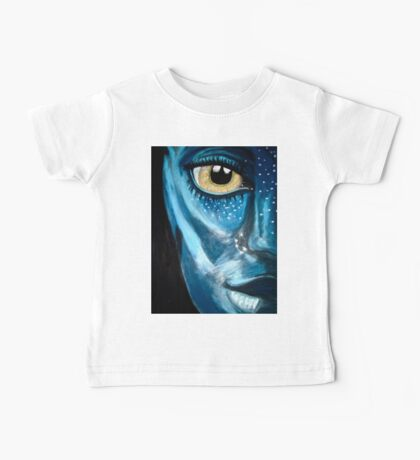 Blue oil pastel inspired by Avatar Baby Tee
