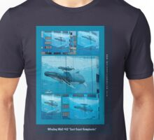 "Whaling Wall #42  ""East Coast Humpbacks"" - Original Painting by Wyland Unisex T-Shirt"
