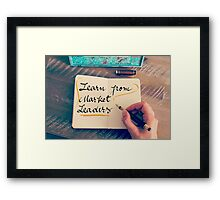 Learn From Market Leaders Framed Print