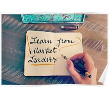 Learn From Market Leaders Poster