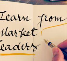 Learn From Market Leaders Sticker