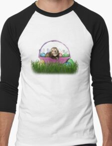 Easter Ferret Men's Baseball ¾ T-Shirt