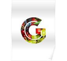 The Letter G - Fruit Poster