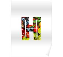 The Letter H - Fruit Poster