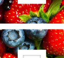 The Letter H - Fruit Sticker