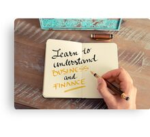 Learn To Understand Business and Finance Canvas Print
