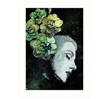 Obey Me - girl with flowers Art Print