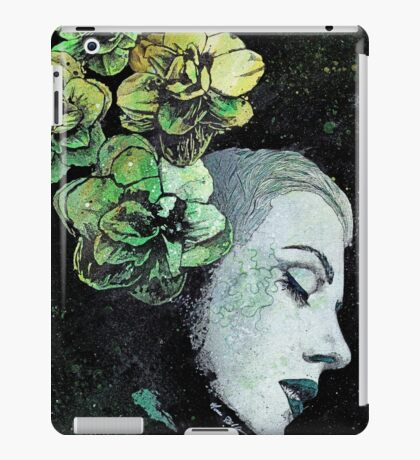 Obey Me - girl with flowers iPad Case/Skin