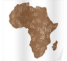 AFRICA (simple map) distressed version with Madagascar Poster