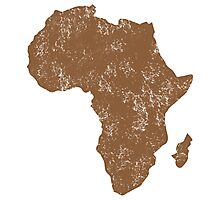 AFRICA (simple map) distressed version with Madagascar Photographic Print