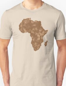 AFRICA (simple map) distressed version with Madagascar T-Shirt
