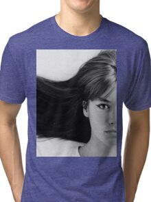 Françoise (Francoise) Hardy - History's Most Fashionable Hair Tri-blend T-Shirt